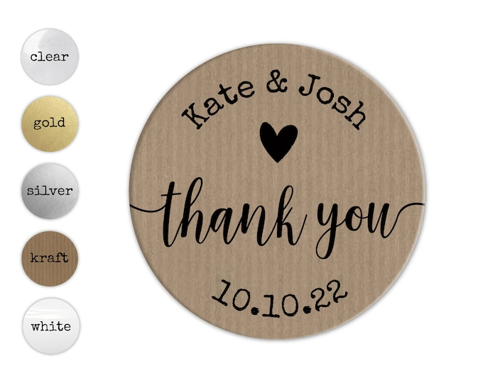 Personalized wedding thank you tags favor stickers, Custom wedding favor labels, Party favor stickers round stickers, Baby shower stickers
