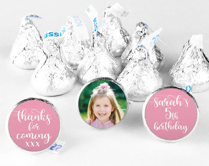 Birthday party hershey kiss sticker hershey kiss labels, Custom stickers for hershey kisses, Chocolate thank you stickers, Candy stickers