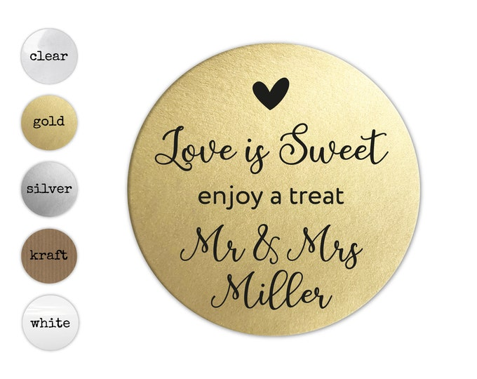 Love Is Sweet Stickers, Sticker For Jar, Wedding Favor Jar Sticker, Wedding Favours Stickers, Party Favor Wedding, Custom Sticker Wedding