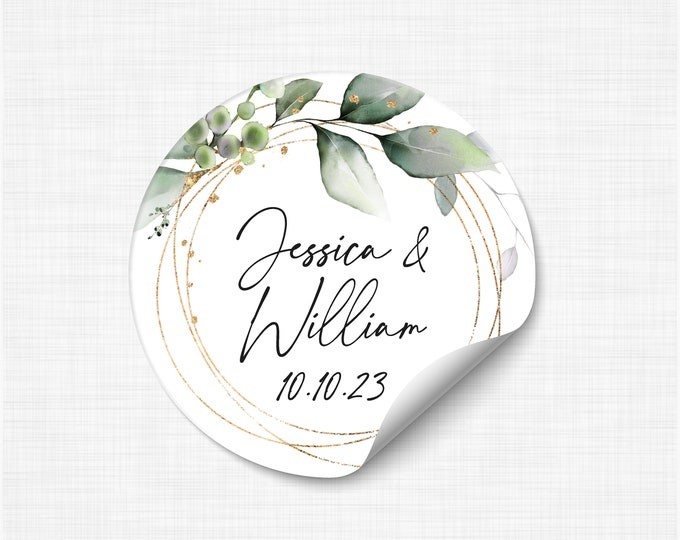Wedding favours stickers stickers and labels, We tied the knot stickers, Wedding take a shot stickers, Rustic Favor Sticker - WC14