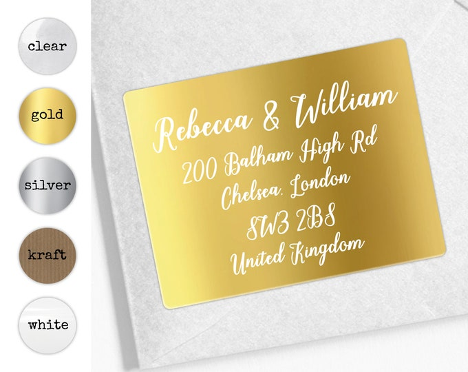 Wedding address labels, Custom wedding stickers label, Return address stickers for wedding, Save The Date Address Label,  Personalised gift