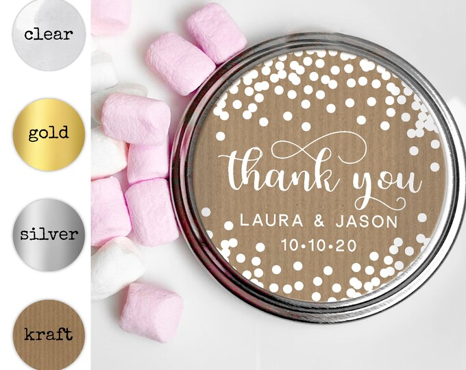 Thank you labels and stickers, Round stickers label,  Custom stickers by Blooms