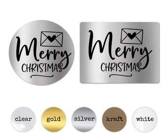 Gift Wrapping Ideas Merry Christmas Decorative Tags Christmas Decorations Personalized Stickers Tags for Favors Packaging Ideas Present Tags