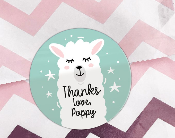 Thank you for coming stickers, Round sticker labels by Blooms