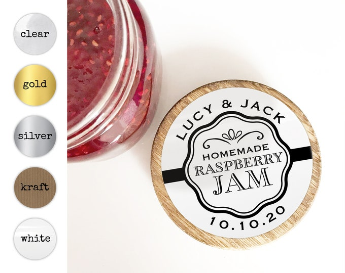 Wedding Favor Jar Sticker, Jam Jar Stickers, Custom Jar Stickers, Mason Jar Stickers, Wedding Sticker For Favors, Personalised Stickers