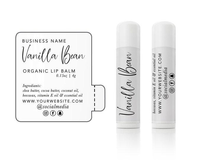 Custom lip gloss balm stickers labels wedding favor thank you stickers, Personalized sticker sheet - 12 Stickers Per Sheet