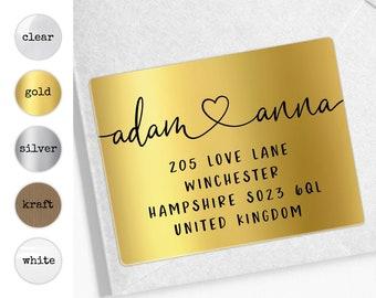 Return address labels, Personalized sticker labels