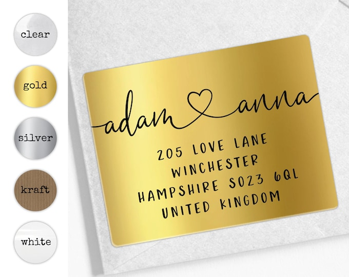 Return address labels, Personalized sticker labels