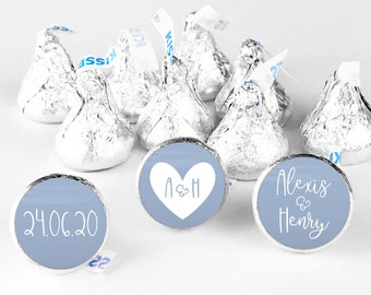Wedding hershey kiss stickers hershey kisses, Wedding kiss sticker for wedding kisses, Hershey kiss labels, Wedding candy table labels