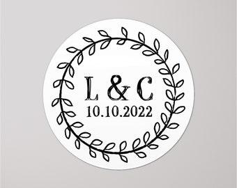 Initial stickers Monogram stickers RW047 Wedding monogram stickers Monogram labels Wedding envelope seals
