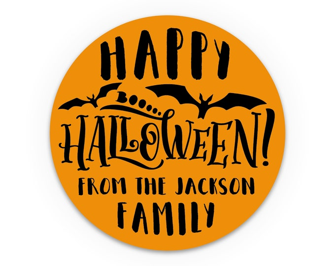 Halloween favor stickers, Happy halloween sticker, Custom stickers by Blooms