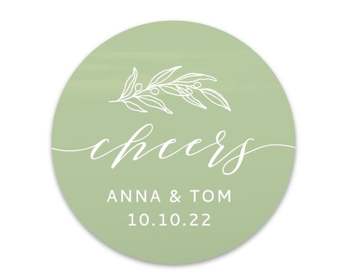 Custom wedding thank you name stickers, Personalized round sticker, Thank you favour stickers, Party name stickers