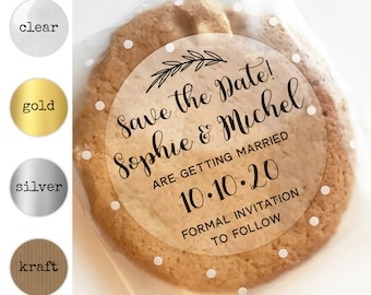 Save the date wedding stickers, Save the date label tags, Personalised label stickers, Round stickers labels, Save the date ideas