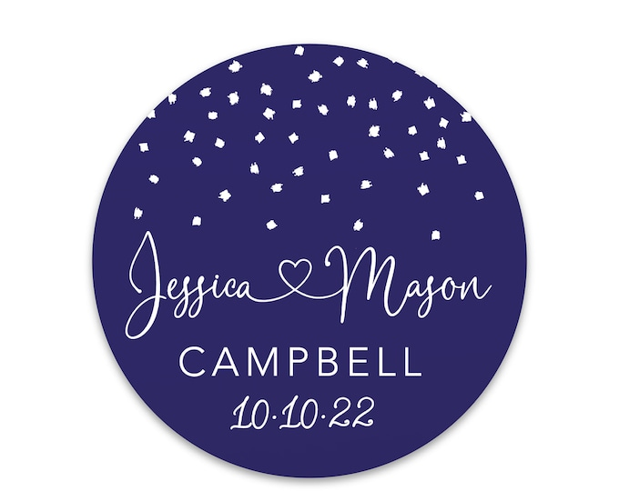 Custom monogram thank you wedding favors decal tags stickers, Personalized circle monogram sticker,  Round sticker labels