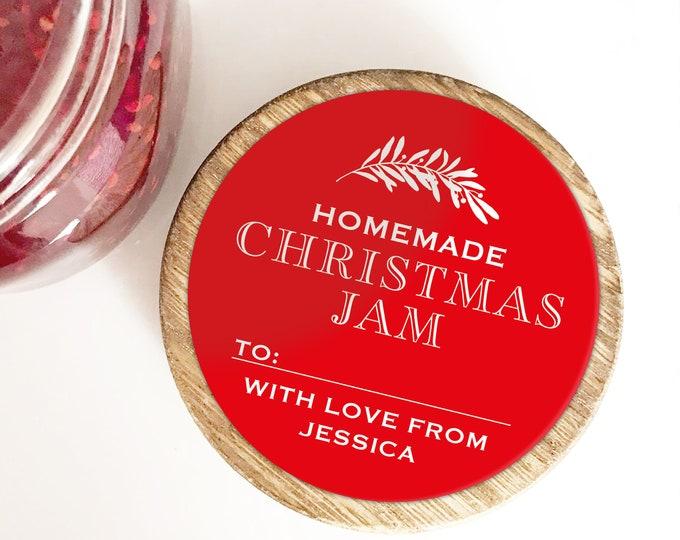 Custom Christmas sticker labels for mason jars, Christmas mason jar labels for handmade items, Christmas sticker personalised jam jar labels