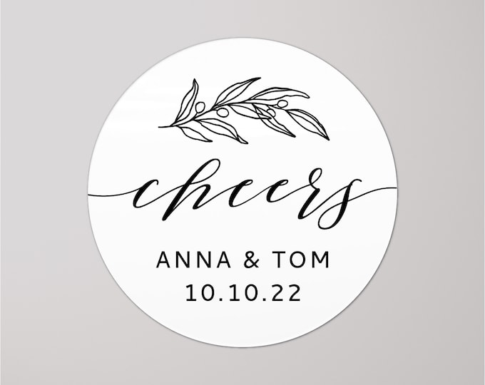 Custom wedding thank you name stickers, Personalized round sticker, Thank you favour stickers, Party name stickers