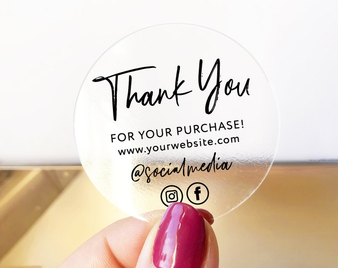 Personalized custom business thank you labels stickers, Thank you for supporting a small business stickers, Packaging stickers - BS53
