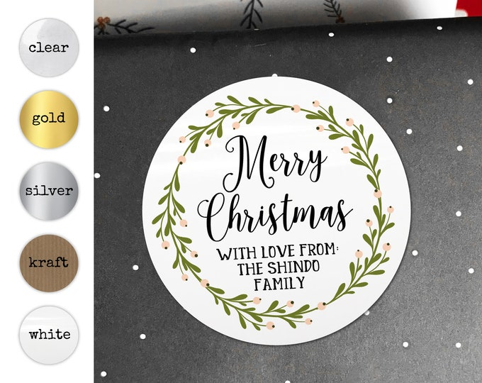 Christmas Gift Tag Personalized Christmas Favor Present Tags Xmas Stickers Merry Christmas Tags Gift Wrap Ideas Invitations Stickers Favors