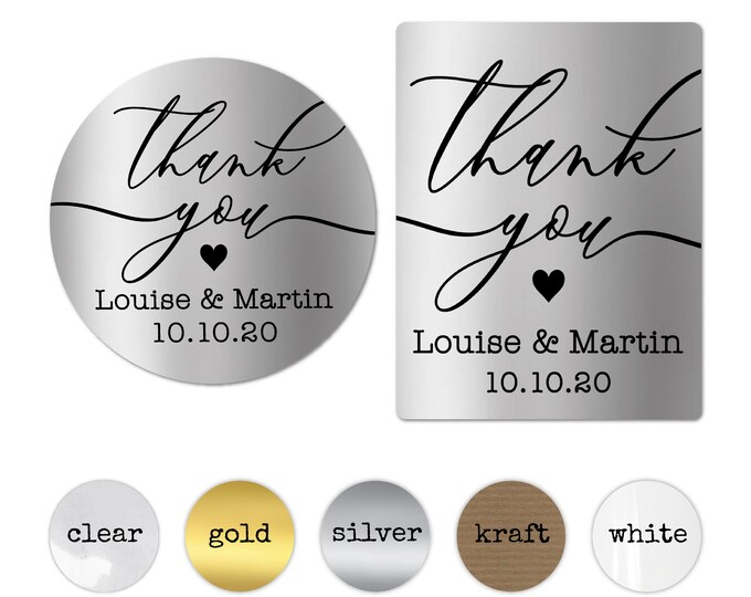 Custom Thank You Stickers, Personalized Wedding Labels, Elegant Envelope Seal, Packaging Supplies, Wedding Favor Stickers, Baby Shower Label