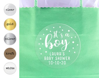 It's a boy baby shower favors gift bag stickers for baby shower, Baby shower labels