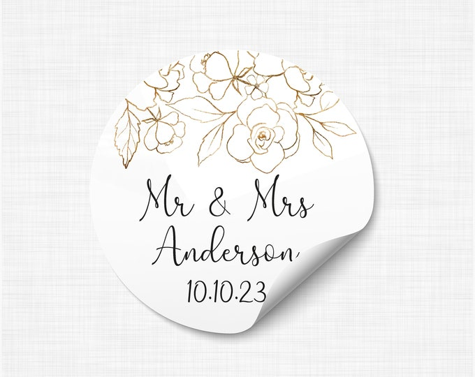 Wedding favours stickers stickers and labels, We tied the knot stickers, Wedding take a shot stickers, Rustic Favor Sticker - WC11