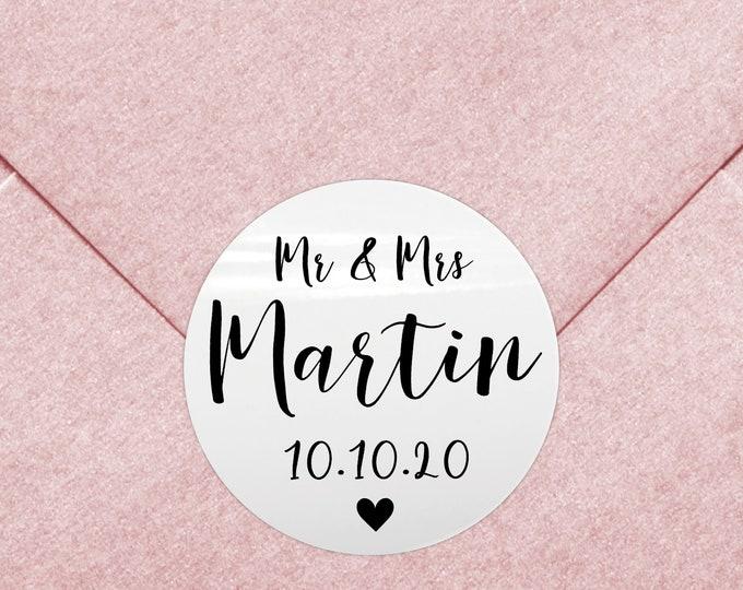 Mr and mrs wedding favor sticker labels wedding thank you stickers, Wedding favor label, From mr and mrs, New mr and mrs custom wine labels