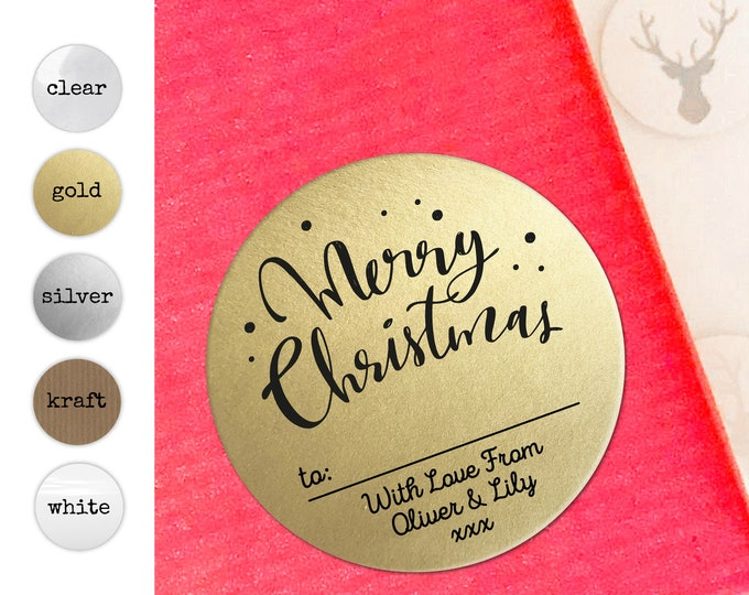 Merry Christmas Name Tags Custom Sticker Gift Tags Personalised Christmas Stickers Gift Wrapping Ideas Christmas Decorations Favors