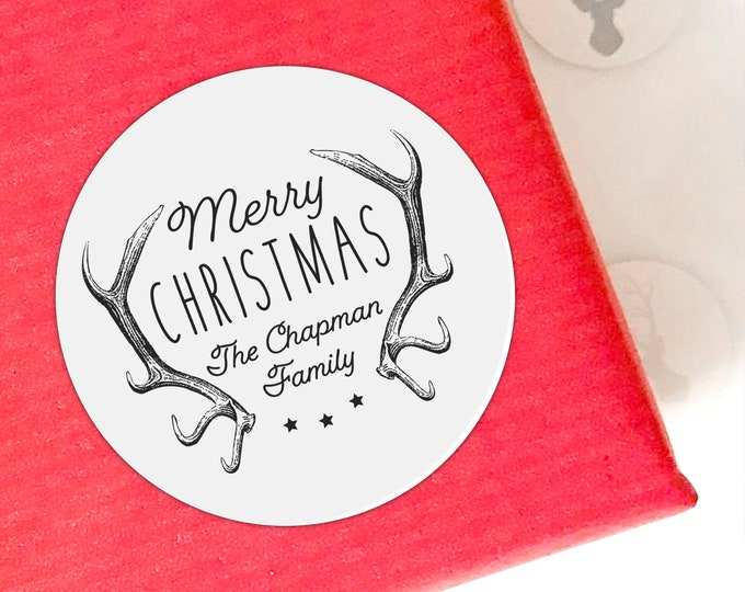 Glossy personalised Christmas Stickers, Personalized Christmas Labels, Christmas tags for presents, Christmas Gift Sticker, Custom Tags