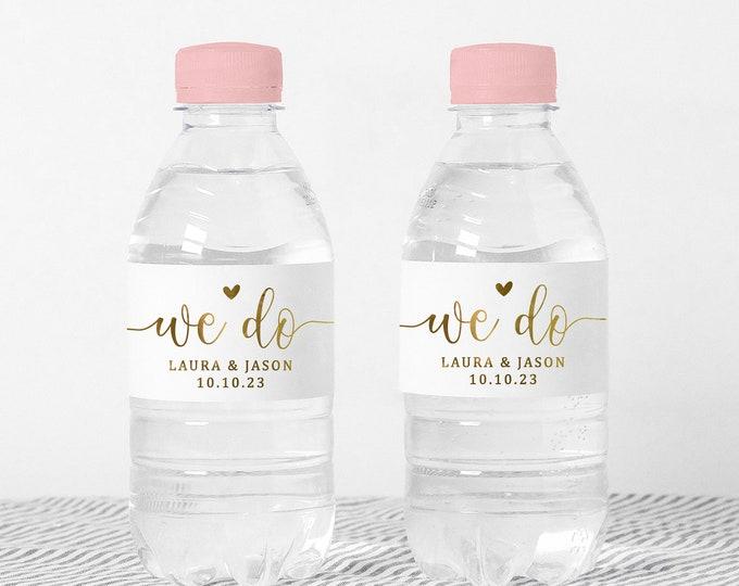Custom wedding water bottle labels name stickers, Waterproof party favor stickers, Waterbottle wraps, Water bottle stickers girls - WBS05