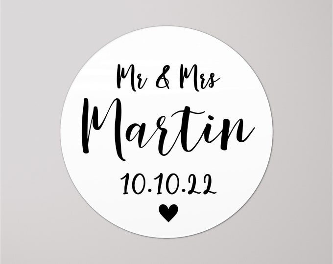 Mr and mrs wedding favor sticker labels wedding thank you stickers, Wedding favor label, From mr and mrs, New mr and mrs custom wine labels