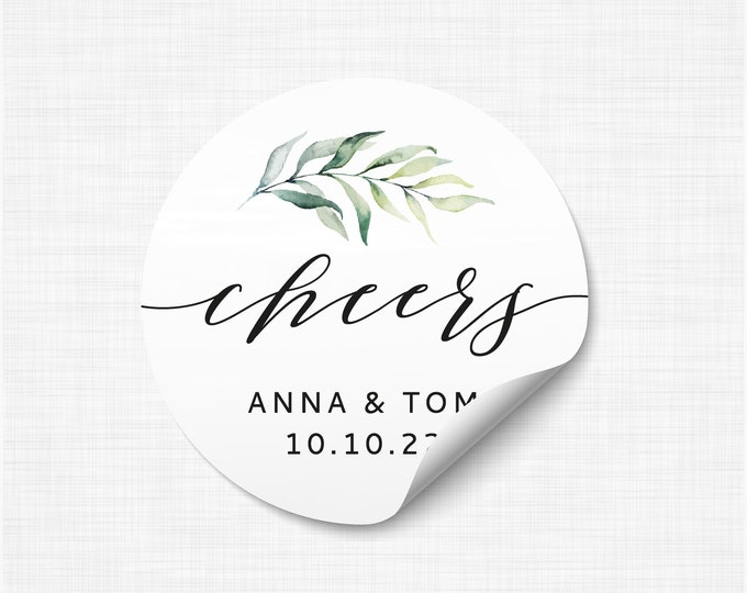 Custom wedding thank you name stickers bridal shower favors, Personalized round sticker, Thank you favour stickers, Party name stickers WC02