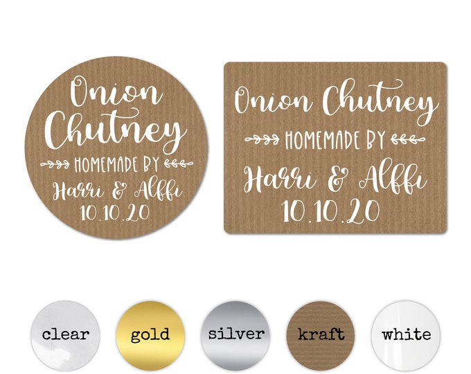 Jam jar labels, Wedding stickers for favors, Custom labels by Blooms