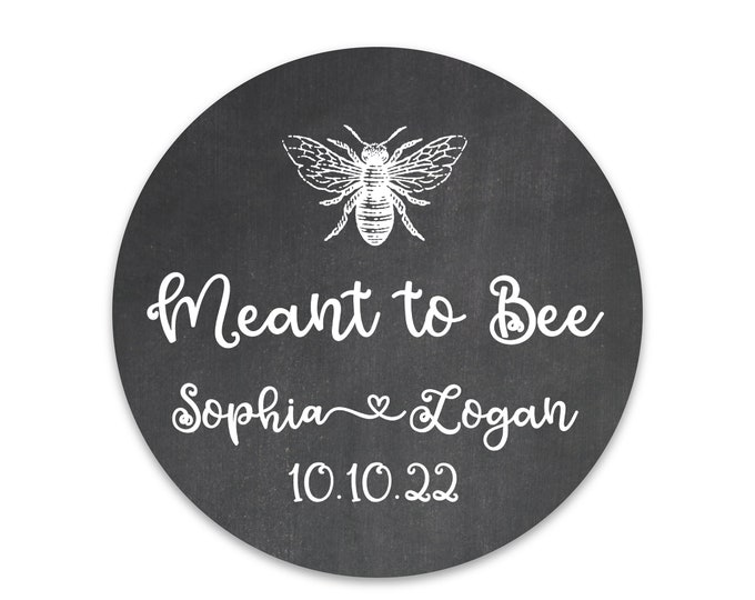 Wedding favor sticker sheet custom labels meant to bee wedding stickers, Custom honey labels, Bee sticker labels for jars, Custom sticker