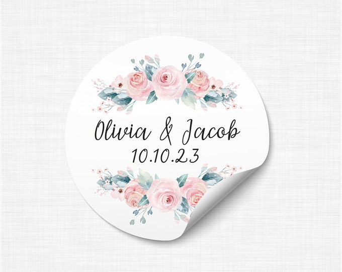 Wedding favours stickers stickers and labels, We tied the knot stickers, Wedding take a shot stickers, Rustic Favor Sticker - WC09