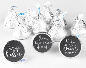 Hershey kiss stickers wedding stickers for favors