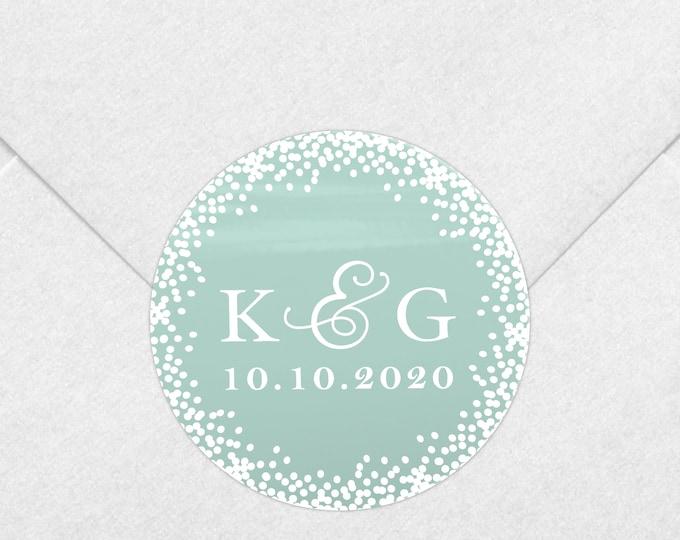 Monogram wedding favor sticker labels envelope seals, Wedding favors for guests, Engagement party favors, Invitation seal
