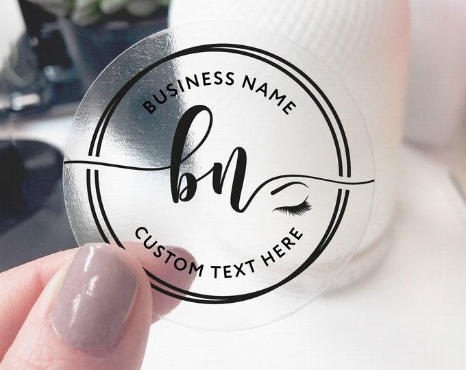 Makeup label lash packaging custom eyelash business logo labels design, Logo lash extensions elegant logo, Makeup artist logo - ES14