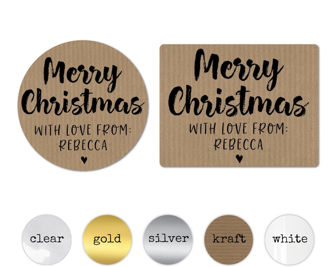 Personalised Stickers Custom Tags for Favors Christmas Gift Tags Merry Christmas Stickers Gift Wrapping Ideas Christmas Envelope Stickers