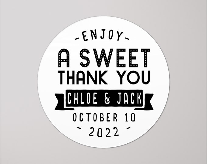 Custom wedding love is sweet thank you tags label stickers, Mason jar stickers, Baby shower stickers for favors