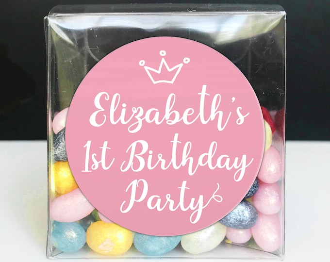 Personalised stickers birthday, Party stickers for party favor bags, Birthday party labels stickers for parties, Birthday party stickers