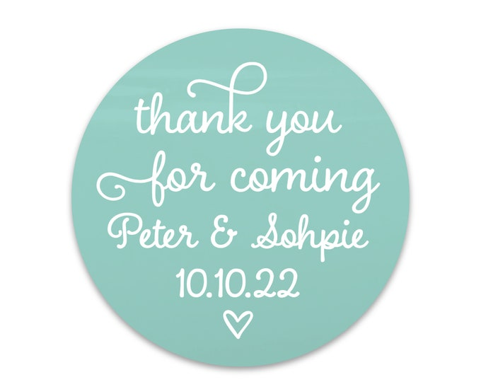 Thank you for coming stickers, Custom stickers labels for handmade items, Wedding stickers for favors tag, Custom labels stickers wedding