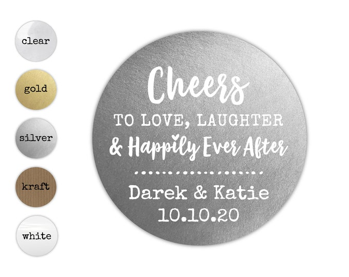 Custom wedding thank you envelope seals name stickers, Personalized Wedding sticker labels, Party favor stickers, Cheers to love stickers