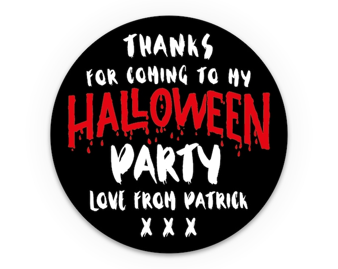 Halloween stickers, Halloween gifts, Halloween party favor, Fall sticker, Trick or treat favor tags, Custom halloween party favors labels