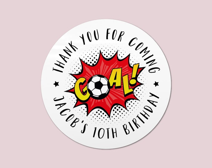 Thank you football party favors for goodie bag, Football stickers, Football goodie bag labels, Boys party favours, Boys stickers