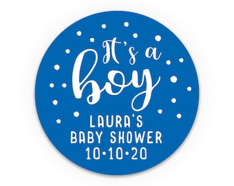 It's a boy sticker labels, Baby shower labels by Blooms