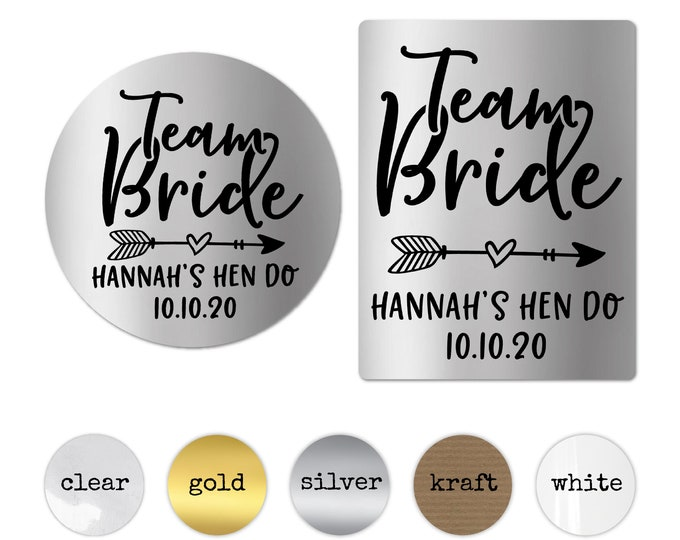 Personalised team bride custom stickers labels, Wedding stickers, Bride tribe stickers, Bachelorette sticker, I do crew sticker