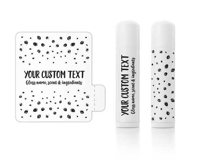 Custom lip gloss balm stickers labels wedding favor thank you stickers, Personalized sticker sheet - 12 Stickers Per Sheet