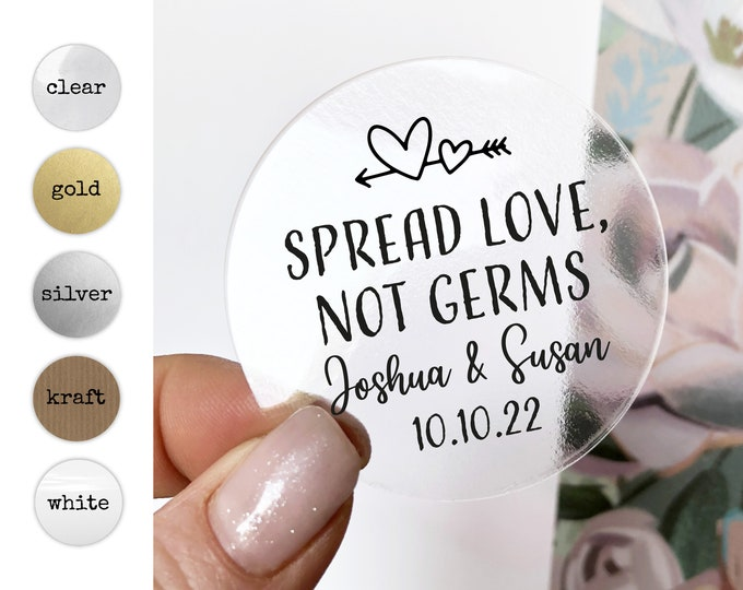 Hand sanitizer wedding custom name stickers, Hand sanitiser personalised label, Hand gel wedding sticker, Custom thank you favor stickers