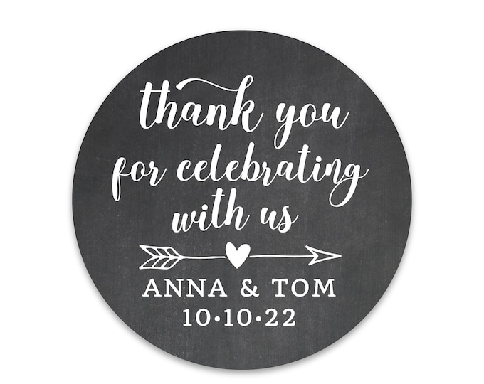 Personalized Thank You Sticker Labels, Custom Wedding Thank You Labels, Shower Favor Sticker, Wedding stickers for favors