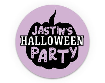 Labels for handmade items, Personalised halloween stickers, Cute stickers, Party favor labels, Party stickers for gift bag, Halloween labels